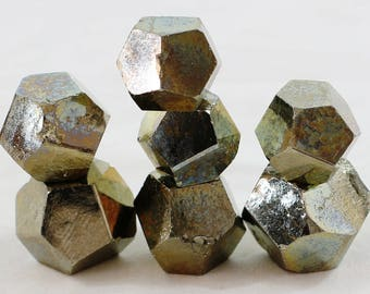 TEST CASE: Natural Pyrite Crystal D12 Blank 7-Piece set