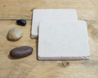 Marble Coasters - Blank Natural Stone Coasters - Absorbent Coasters - Tumbled Marble - Home Decor - Housewarming - Decorative Tile