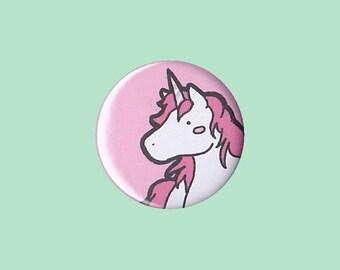 Kawaii Unicorn Badge (PINK, BLUE, MINT) - cute unicorn gift, pink unicorn pin, cute unicorn button, blue unicorn pin, green unicorn pin