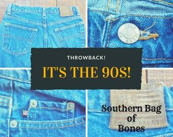 Ralph Lauren 1990's High Waisted Boyfriend Mom Boho  Jeans, 27 28 waist x 29.5  Boot Cut, Boyfriend Jeans, Faded Mom Jeans