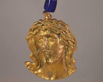 Vintage solid brass jesus figure,christian religious.