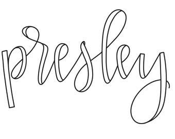 Custom hand-lettered name digital file