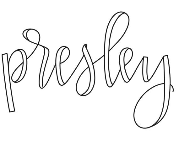 Custom hand-lettered name digital file