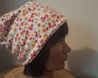 Soft lined cotton jersey chemo hat.