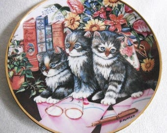 Beautiful collectible-Cats-Franklin Mint-Kitty literature-K. Duncan-Vintage CAT/cats collector plate