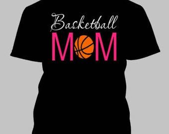 Basketball Mom Iron On / Basketball Mom / glitter basketball iron on / glitter iron on /  basketball / basketball iron on