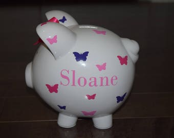 Butterfly - Personalized Piggy Bank