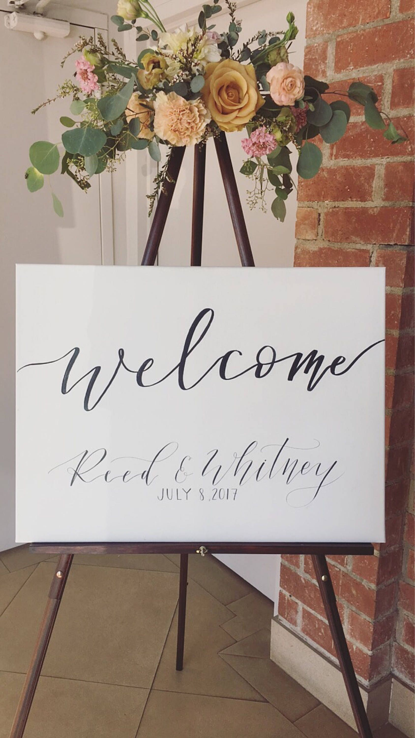 Welcome wedding sign calligraphy wedding sign welcome sign