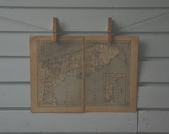 1929 Vintage Florida Map
