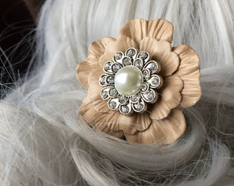 Flower Gift-For-Her Wedding Hair Stick - Jeweled Hair Stick - Flower Hair Stick Flower Wedding Hair Stick for Updo Hair Accessory for Women