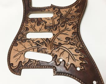 LEATHER PICK GUARD for Stratocaster
