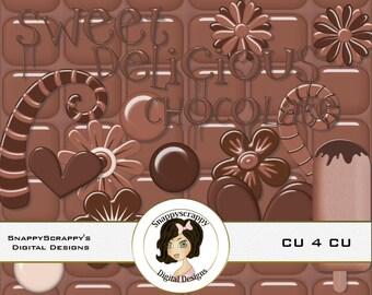 Chocolate Digital Scrapbooking,  Chocolate Clipart