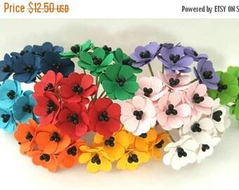 30% OFF 50 Rainbow Paper Flowers - 1 inch / rainbow flowers / rainbow colored flowers / paper flowers