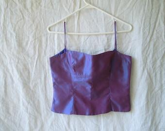 SALE 90s Purple Iridescent Crop Top