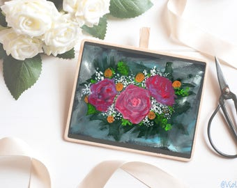 Abstract Floral Art Print - Oil Painting Print