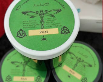 Pan homemade lotion with natural plant butters and essential oils