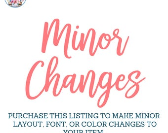 Minor Changes