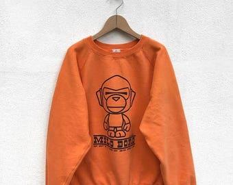 BIG SALE Vintage A Bathing Ape Baby Milo Sweatshirt/Bathing Ape Sweater/Nigo/Japanese Shirt/Baby Milo Pullover