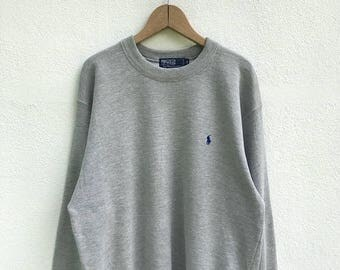 "20% OFF Vintage Polo Ralph Lauren Small Pony Sweatshirt / Ralph Lauren Pullover / Armpit 22.5"" / Polo Sport / RL 67"