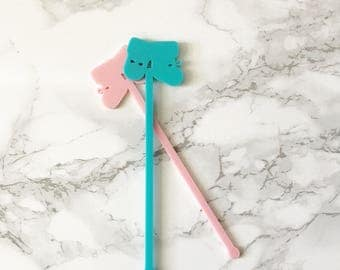 Baby Booties drink stirrer,swizzle Sticks,Cocktail Stick,Birthday gift,Party Decor,baby shower,mom to be,new baby,baby mama,Stir Sticks, 6Pk