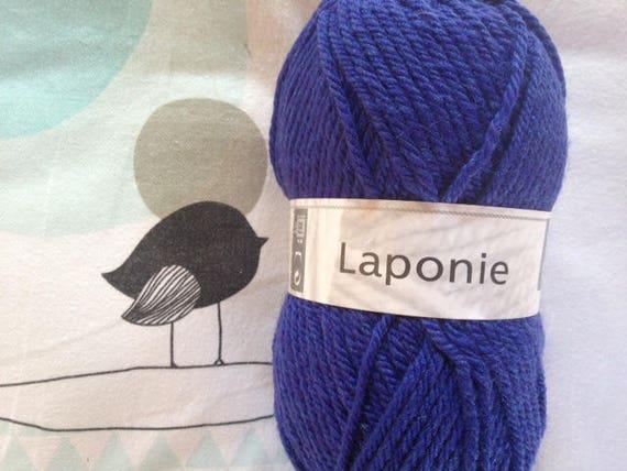 WOOL LAPLAND purple blue - white horse