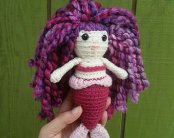 Mini Mermaid Amigurumi Crochet Doll