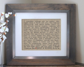 Song Lyric Art | Wedding Vows | Gift for Wife | Wedding Vow Art | Wedding Gift for Couple | Wedding Gift | Wife Gift | Husband Gift for Him