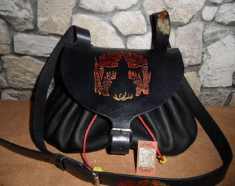"""Bag leather ball XL """"The sorcerer"""""""