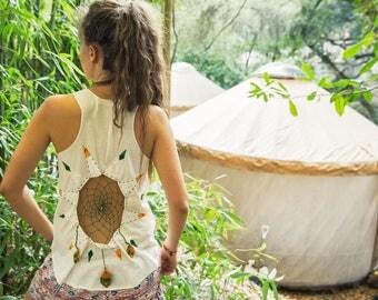 Dreamcatcher Tanktop Hippi Boho Festival Rasta Embroidery Bohostyle Handmade Gypsy Feathers Weaving Folk Best Ethnic Trippy
