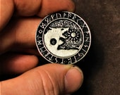 Viking wolf necklace, sons of Fenrir pendant, swallow the sun and devour the moon
