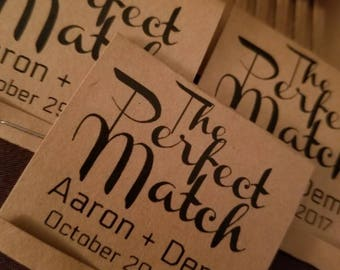 50 The Perfect Match wedding favors. Match wedding favors. Wedding favors. Engagement wedding favors. Anniversary favors.