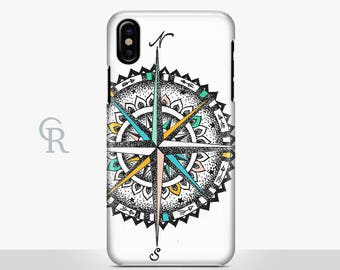 Compass iPhone X Case For iPhone 8 iPhone 8 Plus - iPhone X - iPhone 7 Plus - iPhone 6 - iPhone 6S - iPhone SE - Samsung S8 - iPhone 5