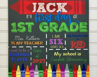 First Day of School Sign, Back to School Sign, Back to School Board, Back to School Print, First Day of School Print, Subway Art