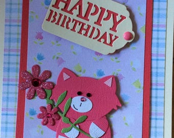 Pink Kitty Card