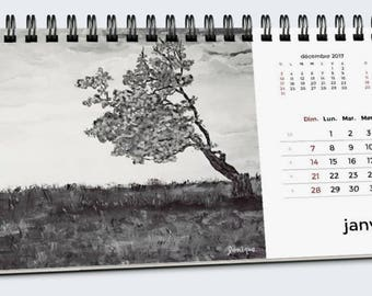 Art calendar, 2018 calendar, desk calendar, paintings calendar, calendar, art desk calendar, table calendar, 2018, visual art, paintings
