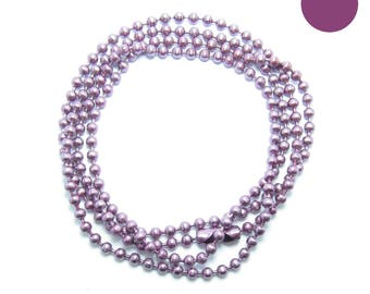 CHAIN ball NECKLACE 60 cm balls 2.2 mm raspberry