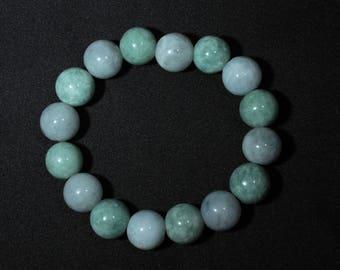 Natural Vivid Jade (Jadeite) Bracelet from Myanmar (Burma)