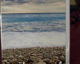 With Sympathy a Coast Scene Card