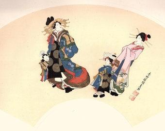 1906, Japanese antique woodblock print, Utagawa Kunisada, from Ukiyoe-ha-gashu.