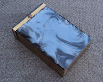 década de 1940 impresionante caseína nacaradas caja de cigarrillo... Cosecha temprana plástico cigarrera... Accesorios de fumar Tobacciana retro... ¡Gran regalo!