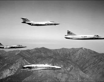 Poster, Many Sizes Available; F-101 Voodoo F-104A Starfighter, F-102A Delta Dagger, Super Sabre
