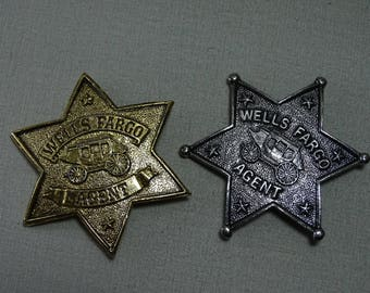 Wells Fargo Souvenir Badges with Pin Back Two Available