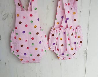 Pink sitter 6-12 months romper, cake smash, photo props