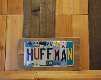 10 Year Wedding Tin Aluminum Anniversary Gift for Husband Wife Boyfriend Family Last Custom Name License Plate Name Sign Last Minute OK!!!