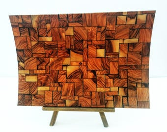 Wooden Tray - Wooden Platter - Mosaic Tray - Mosaic Serving Tray - Wood Serving Platter - Wooden Serving Tray - Decorative Platter