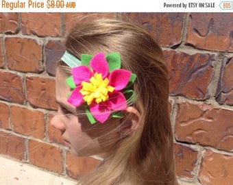 EOFY Sale Felt Dahlia Flower Elastic Headband