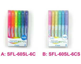Pilot FriXion Light Ink Erasable Highlighter SFL-60SL-6C SFL-60SL-6CS Color Set ATG009