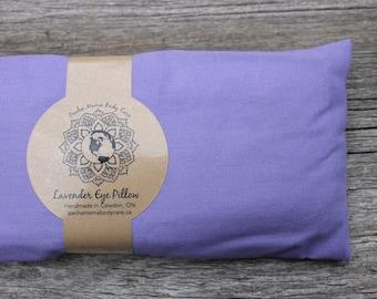 Lavender Eye Pillow • Light Purple  • Large  • Yoga • Calm  • Eye Cover • Meditation • Organic Body Care