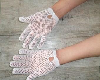 vintage size 7 crochet gloves