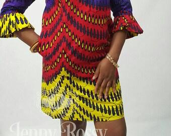 Ankara Mini dress African clothing dress African Midi dress